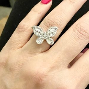 Sz 6–10! Baguette Butterly ring